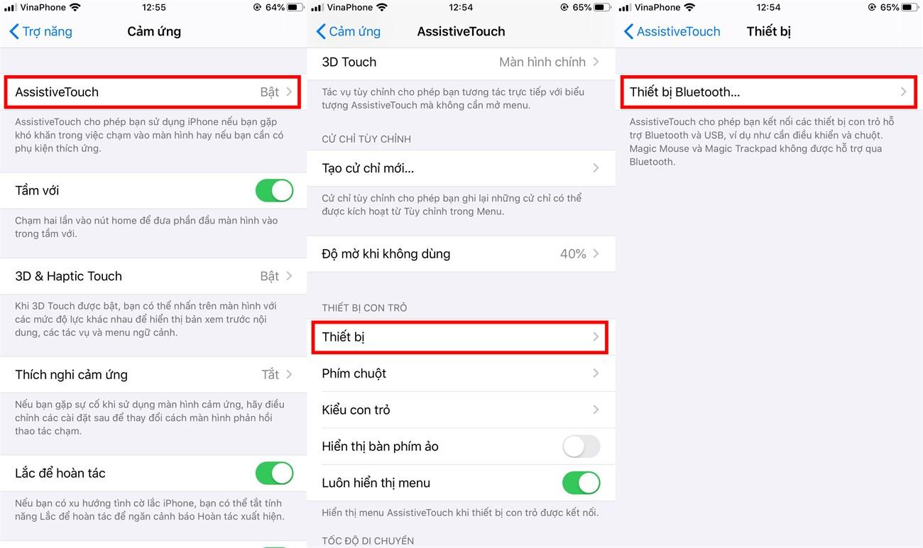 Sử dụng chuột trên iPhone hoặc iPad